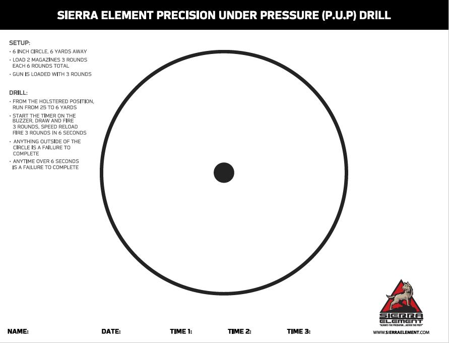 P.U.P. Drill Target